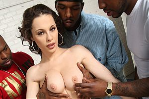 interracial hardcore pics0 tn French babe Nikita Bellucci gets her holes reamed by black cocks