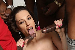 interracial hardcore pics1 tn French babe Nikita Bellucci gets her holes reamed by black cocks