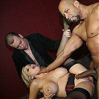 interracial gangbang8 tn Busty Katie Kox gets her pussy filled with black jizz