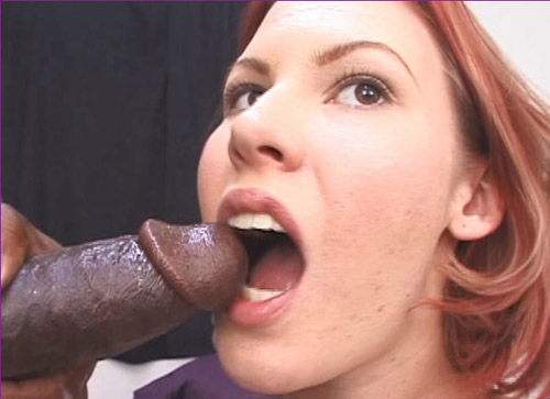 ip6 3 Red haired chick loves black meat